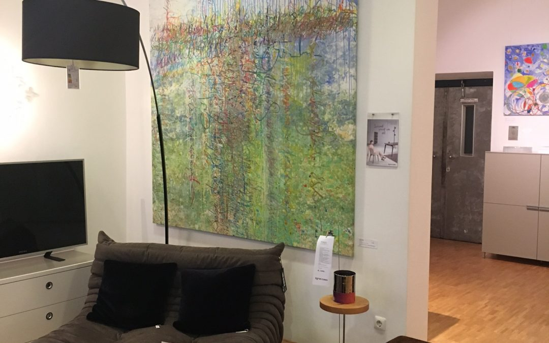 """Ausstellung: """"Kunst im WohnRAUM"""" im Wohnstudio M                               Wermbachstraße 50-56 in Aschaffenburg – bis Ende Februar 2017 geöffnet zu den Geschäftszeiten"""