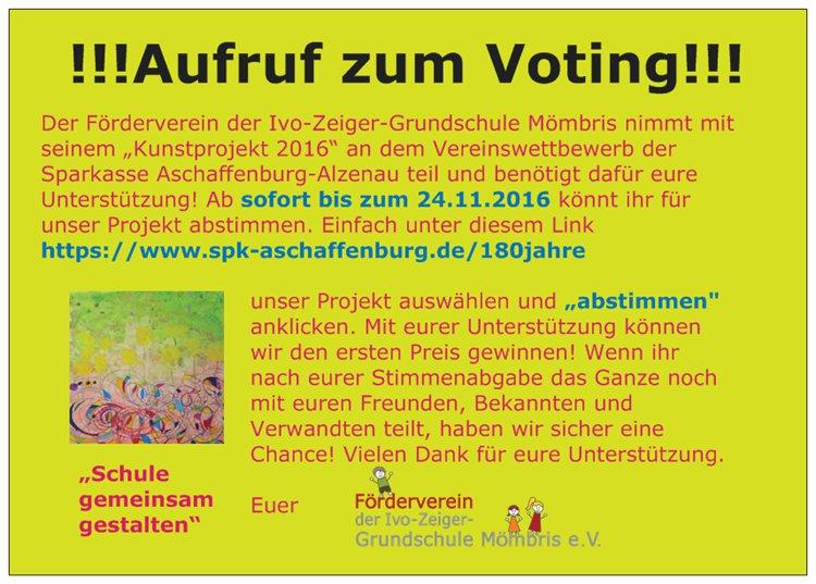 Aufruf zur Abstimmung